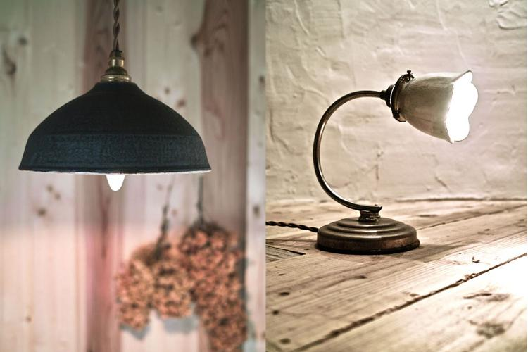 陶器の照明