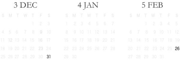 カレンダー2018②